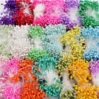 Внешний вид - 300Pcs Double Heads Artificial Mini Pearl Flower Stamen Wedding Party Decoration