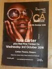 Yola Carter + Red Pine Timber Co Glasgow oct.2018 show tour concert gig poster