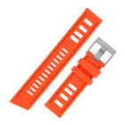 VINTAGE '67 Waterproof Rubber Dive Watch Strap with Square Buckle in ORANGE