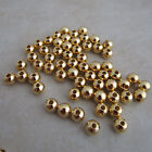 smooth gold plated beads 4mm round
