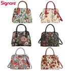 Tapestry Crossbody Bag Top Handle Purse Handbag Floral Design by Signare