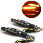 Bendable Motorcycle 12 LED Turn Signal Light Indicator Blinker Lamp Amber 2 pcs
