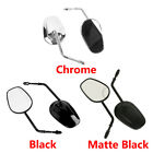 Chrome/Matte/Black Rearview Mirrors for Harley Softail Touring Street Road Glide image
