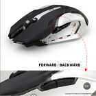 LED Backlit Wireless USB Rechargeable Silent Optical Ergonomic Gamin Mouse Mice