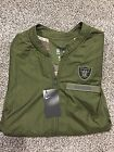 2018 Oakland Raiders Salute to Service Nike Sideline Elite Hybrid Jacket IN HAND