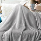Throw Blanket for Couch Sofa | Reversible Warm Flannel Fleece Solid Blanket | US image