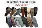 Guitar Strap Leather Pu Adjustable Acoustic Electric Bass