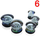 Jellyfish Flesh Tunnels Glass Saddle Ear Plugs Ring Gauges Earring Piercing SP