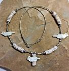 1970s Liquid Silver Fetish Birds & Silver Beads Choker Necklace Assorted Styles