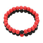 Round Rock Lava Volcanic Stone Beads Red Pine Stone For Bracelet Jewelry 8mm