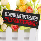 1Pc Blood Makes Cloth Badges Patch Embroidered Applique Sewing Label Patche s/