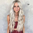 Full Wig Long Curly Straight Synthetic Hair With Blonde Wigs For Women Ladies