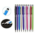 1/5/10X 2In1Touch Screen Stylus Ballpoint Pen For Ipad Iphone Samsung Tablet KWC