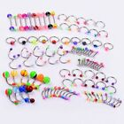 14g 16g Wholesale Bulk lots Body Piercing Eyebrow Jewelry Belly Tongue Bar Ring