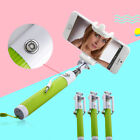 Handheld Wired Selfie Stick Monopod Extendable Pole For iPhone Samsung...