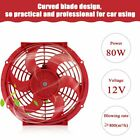 10 inch Slim Fan Push Pull Electric Radiator Cooling 12V Mount Universal Kit Red