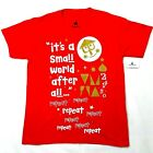 New Disney Parks It's A Small World After All Red T-Shirt Youth XL Extra Large