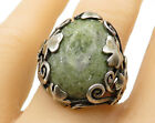 SW ISREAL 925 Silver- Vintage Vasonite Swirl & Floral Solitaire Ring Sz 8- R5237