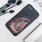 """Hand-Drawing Painting """"3D Leaf"""" Leather Iphone Case orther Handphone Available"""