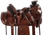Roping Saddle 14 15 16 Western Wade Tree Ranch Work Trail Leather Horse Tack Set