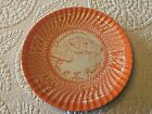 Anthopologie Orange Best Of Show Gwendolyn Rare And Fine Beauty Plate