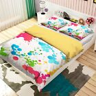 3D Color Ink Painting 3 Bed Pillowcases Quilt Duvet Cover Set Single Queen King