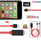 1080P 6ft 8 Pin Lightning to HDMI TV AV Adapter Cable for Pad Phone XS XR X 8
