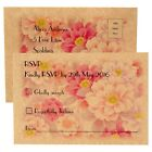 Personalised Wedding Vintage RSVP Cards + Return Envelopes - FREE P+P