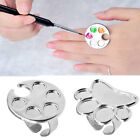1pcs metal finger ring palette gel polish painting colors dish acrylic uv paint