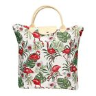 Foldable Shopping Bag Reusable Grocery Tote In Nature Tapestry Design