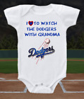Los Angeles Dodgers Onesie Shirt  Love To Watch With Grandma on Ebay
