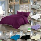 100% EGYPTIAN COTTON DUVET COVER 200 THREAD COUNT SINGLE DOUBLE KING BEDDING SET