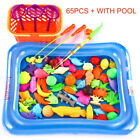 Внешний вид - Magnetic Fishing Toy for Kids Fishing Games Toys Rod+Fishes with Inflatable Pool