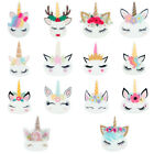 Внешний вид - DIY 10 x Sleepy Unicorn Flat Back Planar Resin Embellishment Kids Hair Bow Craft