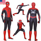 Внешний вид - US!Spider-Man Far From Home Adult Kids Peter Parker Zentai Cosplay Costume Suit