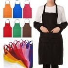 Waterproof Cooking Bib Apron with Pocket Sleeveless Kitchen Restaurant Accessory