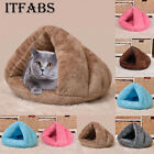 Pet Cat Dog House Kennel Puppy Cave Sleeping Bed Soft Arctic Velvet Cushion Nest