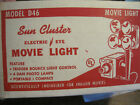 VTG Photography MOVIE CAMERA LIGHT BAR 4 BULBS  FROM CHICAGO KITCHENWARE #D46
