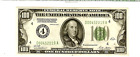 $100 Bill 1928 Serial Mint 4 Redeemable In Gold Rare