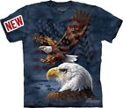 Eagle Flag Collage T-Shirt by The Mountain. USA American Patriotic S-5XL NEW image