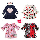 Kids Girls Dress Valentine's Day Love Heart Boutique Baby Toddlers Party Clothes