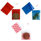 100 Bags clear 8ml small poly bagrecloseable bags plastic baggie new~