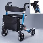 Drive Medical X Fold Rollator Walking Frame Mobility Aid Seat Adjustable Height