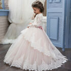 Communion Party Prom Princess Pageant Bridesmaid Wedding Flower Girl Dres 2-16 Y