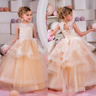 Communion Party Prom Princess Pageant Bridesmaid Wedding Flower Girl Dres ghf