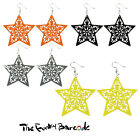 TFB - LARGE STAR DANGLE EARRINGS Funky Quirky Emo Punk Sweet Cool Fun Kitsch