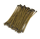 antiqued brass plated headpins 1.5 inch 21 gauge