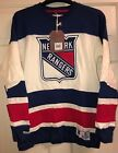 Vintage Hockey Mitchell Ness New York Rangers Long Sleeve Shirt Various Sizes $40.0 USD on eBay