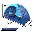 POTABLE BEACH SHELTER TENT CAMPING SUN SHADE OUTDOOR CANOPY