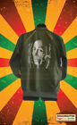 BOB MARLEY TRACKSUIT TOP KHAKI GREEN SMOKIN SPLIFF/LION OF JUDAH MOTIF REGGAE